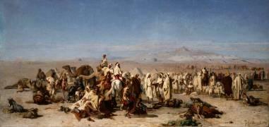 Marché arabe dans la plaine de Tocria (Guillaumet Gustave Achille) - Muzeo.com