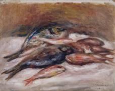 Nature morte aux poissons (Auguste Renoir) - Muzeo.com