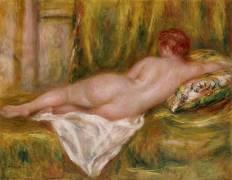Nu couché, vu de dos ou Le repos après le bain (Auguste Renoir) - Muzeo.com