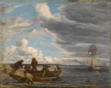 Pêcheurs en rade du Havre (Boudin Louis-Eugène) - Muzeo.com