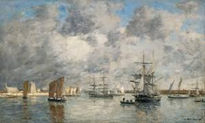 Port de Camaret (Eugène Boudin) - Muzeo.com