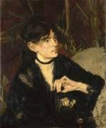 Portrait de Berthe Morisot à l'éventail (Manet Edouard) - Muzeo.com