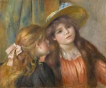 Portrait de deux fillettes (Auguste Renoir) - Muzeo.com