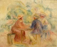 Réunion dans le jardin (Renoir Auguste) - Muzeo.com