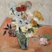 Roses and Anemones (Vincent Van Gogh) - Muzeo.com
