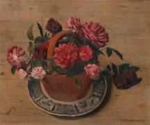 Roses rouges (Félix Vallotton) - Muzeo.com