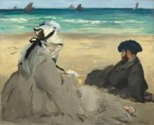 Sur la plage (Manet Edouard) - Muzeo.com