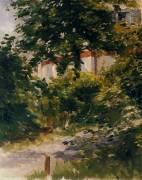 Une allée dans le jardin de Rueil (Manet Edouard) - Muzeo.com