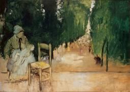 Une nourrice au jardin du Luxembourg (Edgar Degas) - Muzeo.com