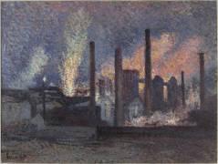 Usines près de Charleroi (Luce Maximilien) - Muzeo.com