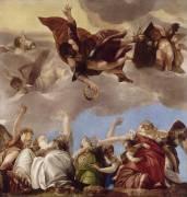 Saint Marc couronnant les vertus Théologales (Véronèse Paul) - Muzeo.com