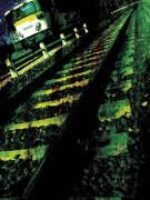Run-Down Tracks with Train (anonyme) - Muzeo.com
