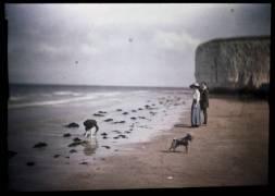 Margate beach, blue girl (John Cimon Warburg) - Muzeo.com