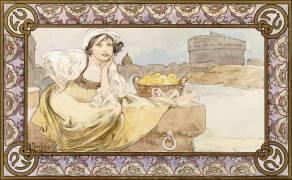 Italian girl (Alfons Mucha) - Muzeo.com