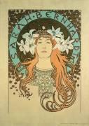 Sarah Bernhardt (Alfons Mucha) - Muzeo.com